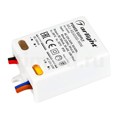 ARJ-KE40300-MINI (12W, 300mA, PFC) (ARL, IP20 Пластик) блок питания