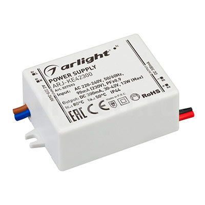 ARJ-KE42300 (13W, 300mA, PFC) (ARL, IP44 Пластик) блок питания