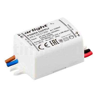 ARJ-KE21300 (6W, 300mA) (ARL, IP44, Пластик) блок питания