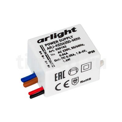 ARJ-KE04350-MINI (1.4W, 350mA) (ARL, IP20 Пластик) блок питания