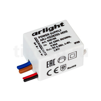 ARJ-KE08350-MINI (2.8W, 350mA) (ARL, IP20 Пластик) блок питания