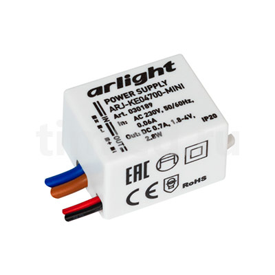 ARJ-KE04700-MINI (2.8W, 700mA) (ARL, IP20 Пластик) блок питания